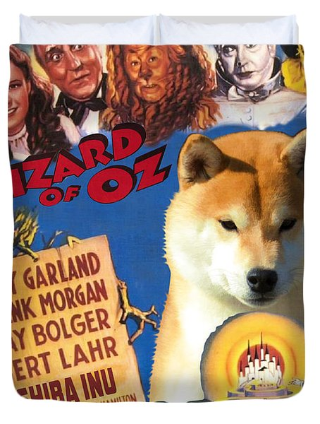 Shiba Inu Art Canvas Print - The Wizard Of Oz Movie Poster Duvet Cover