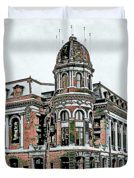 Shibe Park Duvet Cover by John Madison