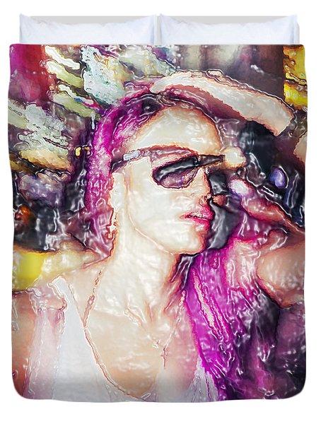 Shibuya Duvet Cover by Setsiri Silapasuwanchai