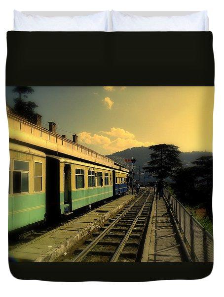Shimla Railway Station Duvet Cover