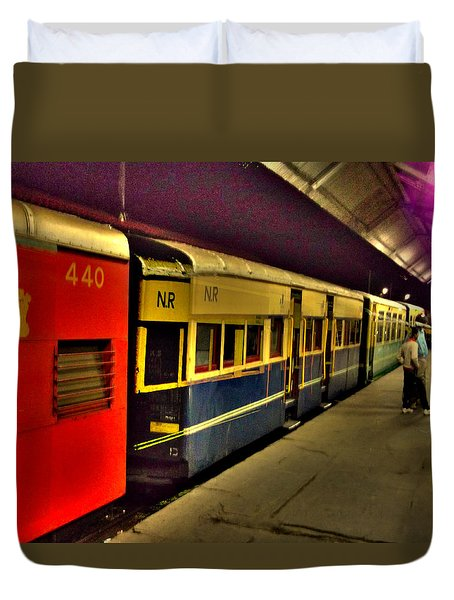 Shimla Toy Train Duvet Cover by Salman Ravish