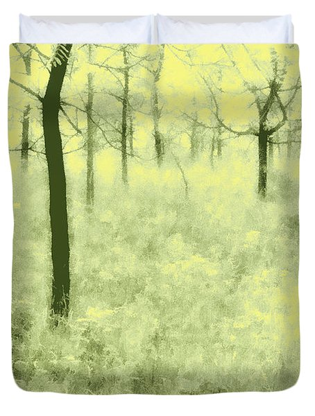 Duvet Cover featuring the photograph Shimmering Spring Day by John Hansen