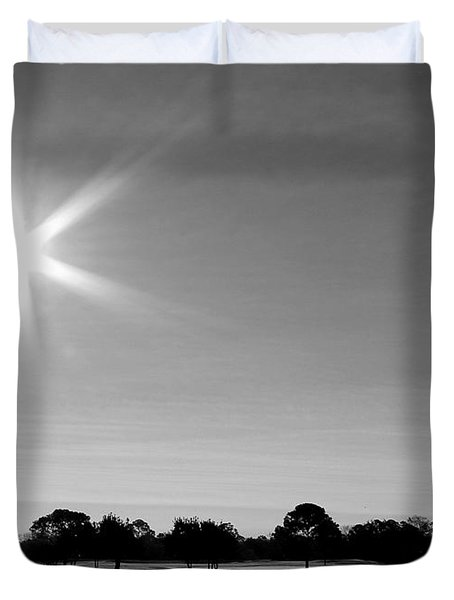 Duvet Cover featuring the photograph Shine And Rise by Faith Williams
