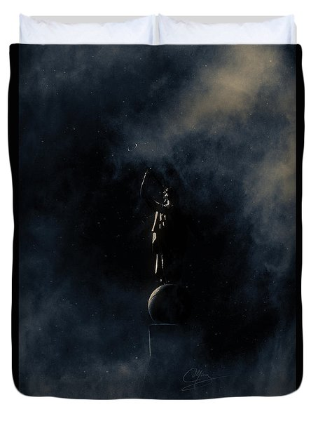 Shine Forth In Darkness Duvet Cover by Greg Collins