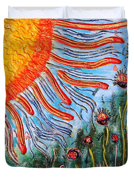 Shine On Me.. Duvet Cover by Jolanta Anna Karolska
