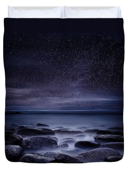 Shining In Darkness Duvet Cover by Jorge Maia