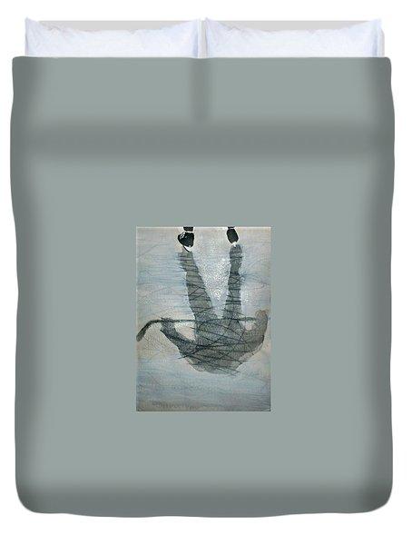 Shinny Shilouette Wc Duvet Cover