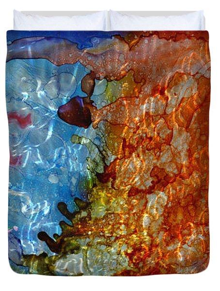 Shinto Gods Duvet Cover by Luis  Navarro