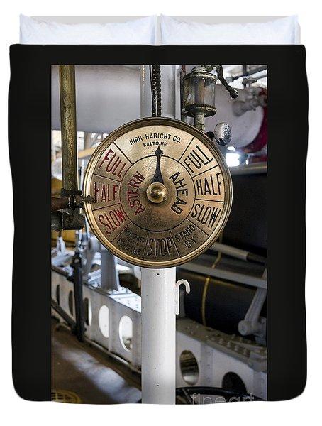 Ship Control Telegraph Duvet Cover by Steven Ralser