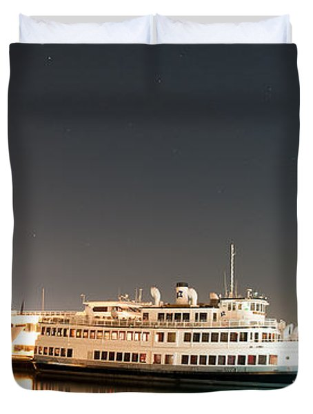 Ship Duvet Cover by Gandz Photography