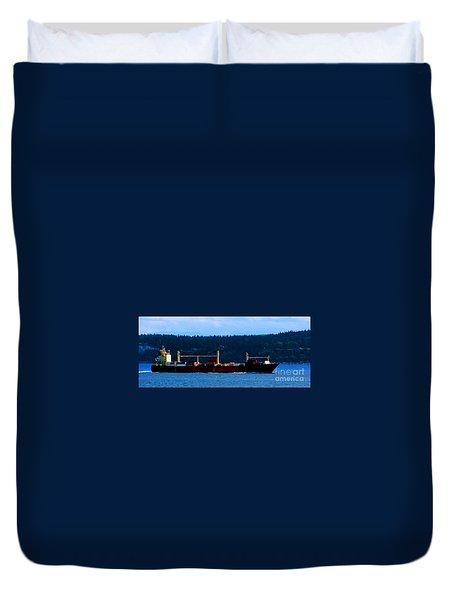 Shipping Lane Duvet Cover