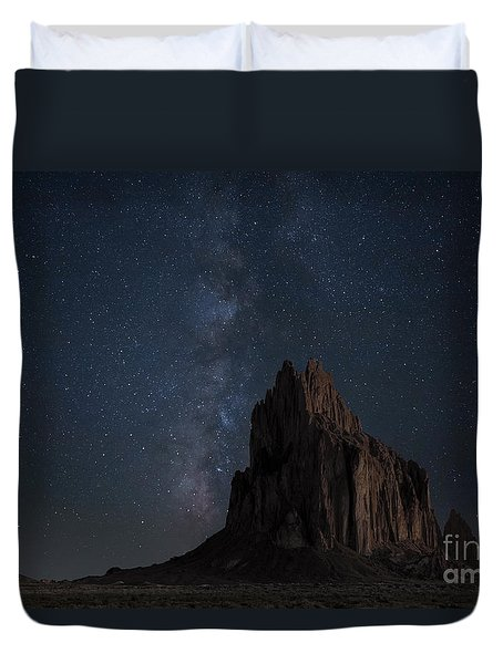 Duvet Cover featuring the photograph Shiprock by Keith Kapple