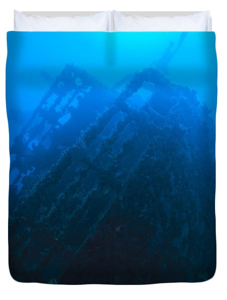 Shipwreck On Govenors River Walk Duvet Cover