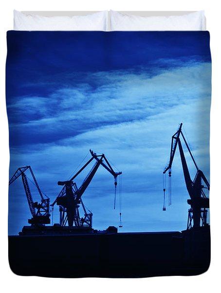 Shipyard Crane Duvet Cover