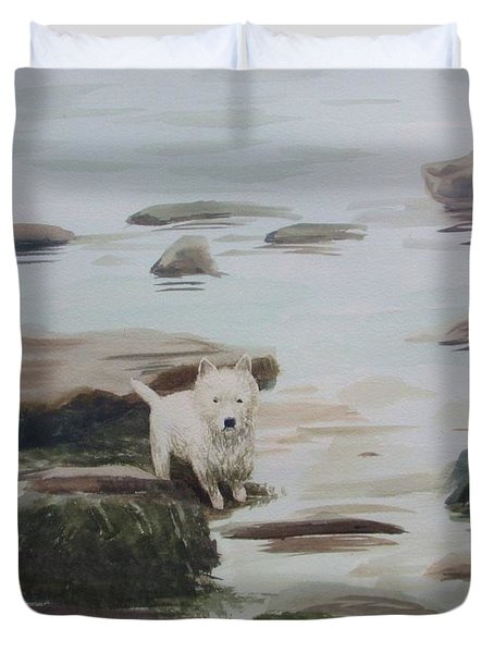 Shirley's Dog Duvet Cover by Martin Howard