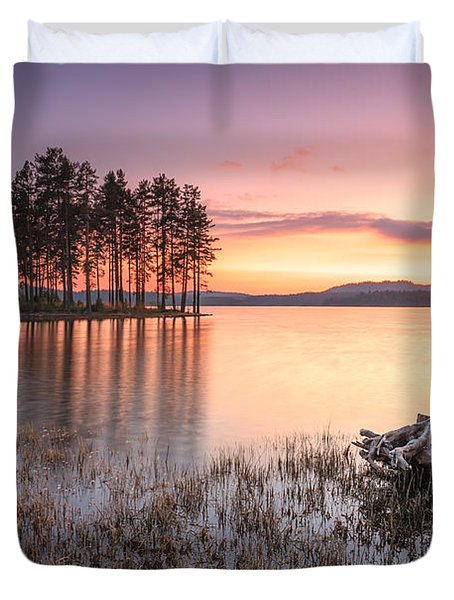 Shiroka Polyana Lake  Duvet Cover by Evgeni Dinev