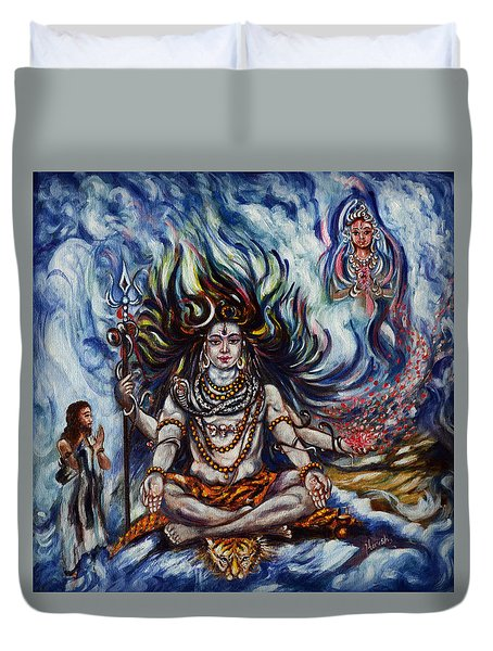 Shiva - Ganga - Harsh Malik Duvet Cover