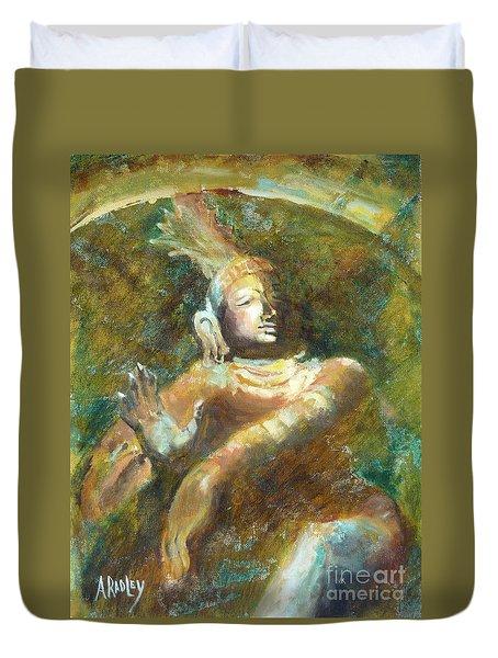 Shiva Creator Destroyer Duvet Cover by Ann Radley