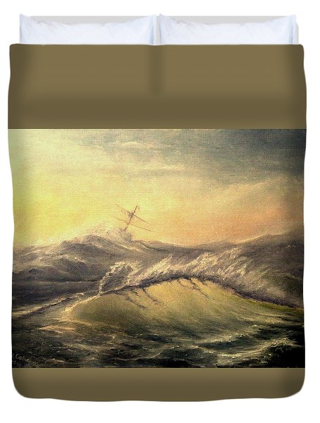 Shivering Beauty Of Storm Duvet Cover by Mikhail Savchenko