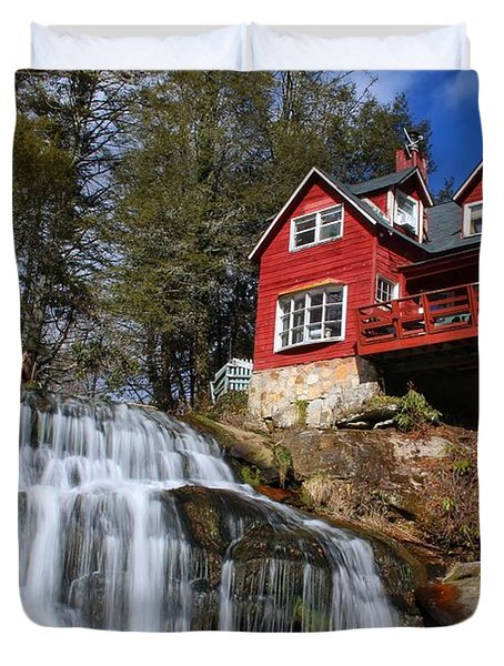 Shoal Creek Falls  Duvet Cover
