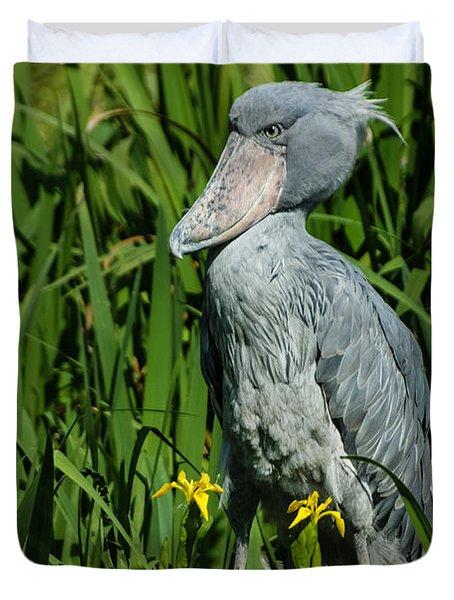 Shoebill Stork Duvet Cover