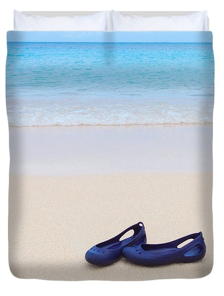 Shoes In Paradise Duvet Cover