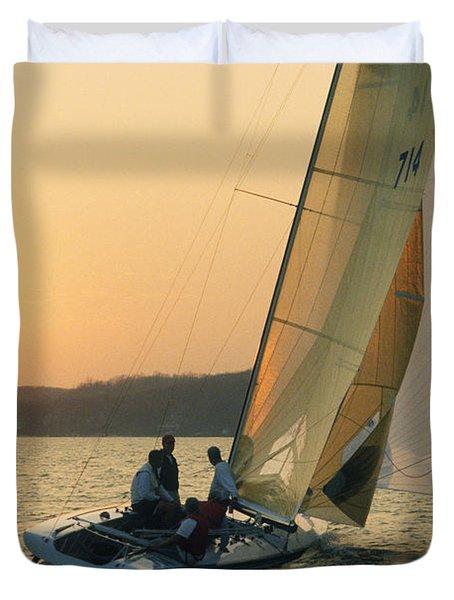 Shooting The Breeze - Lake Geneva Wisconsin Duvet Cover