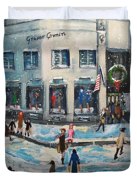 Shopping At Grover Cronin Duvet Cover