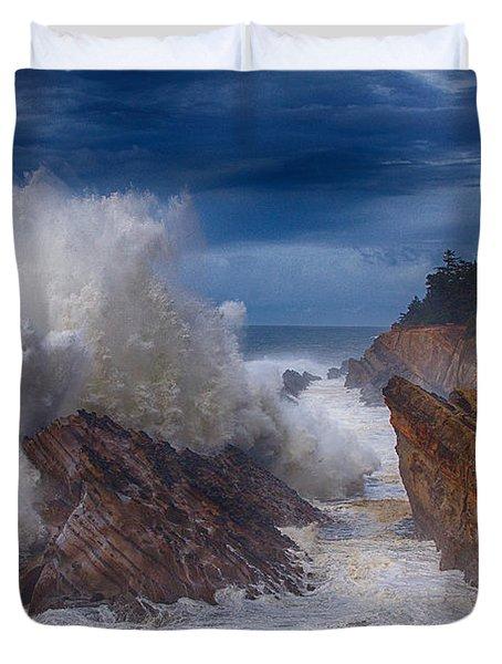Shore Acre Storm Duvet Cover by Darren  White