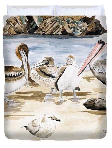 Shore Birds Duvet Cover