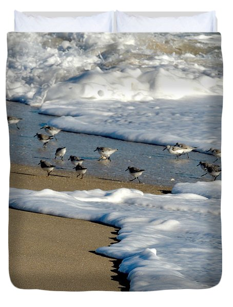 Shore Birds South Florida Duvet Cover
