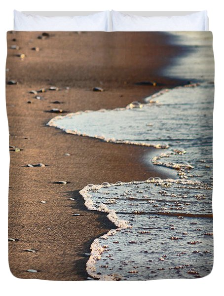 Duvet Cover featuring the photograph Shore by Bruce Patrick Smith
