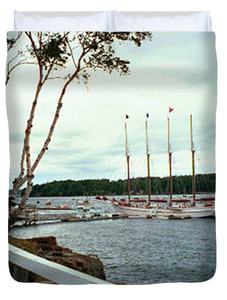 Duvet Cover featuring the photograph Shore Path In Bar Harbor Maine by Judith Morris