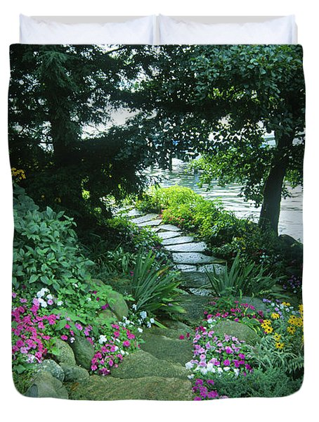 Shore Path - Lake Geneva Wisconsin Duvet Cover
