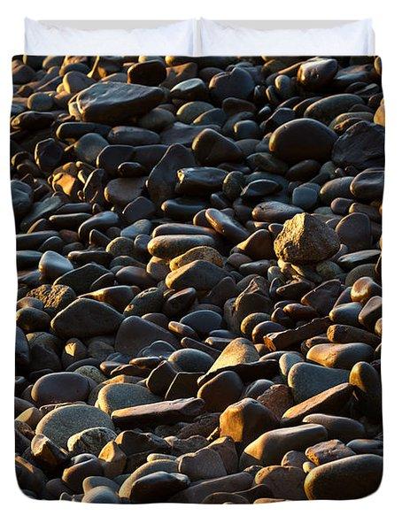 Shore Stones Duvet Cover by Steve Gadomski