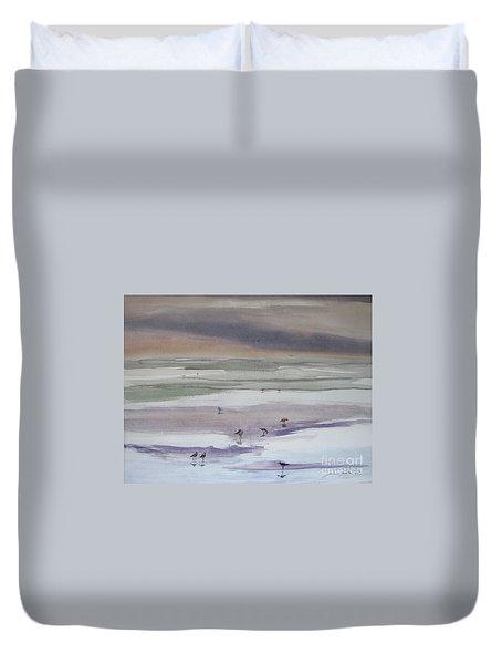 Shoreline Birds II Duvet Cover