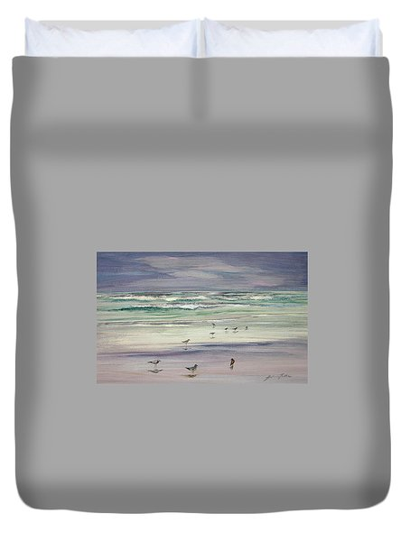 Shoreline Birds IIi Duvet Cover