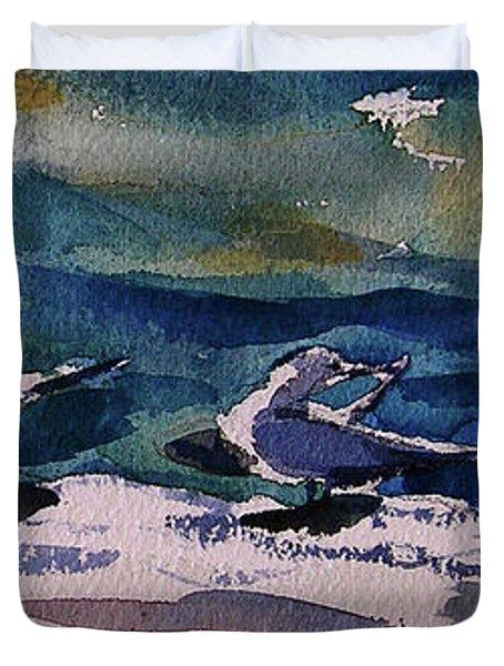 Shoreline Birds Iv Duvet Cover
