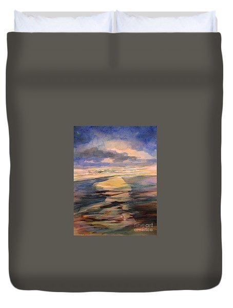 Shoreline Sunrise 11-9-14 Duvet Cover