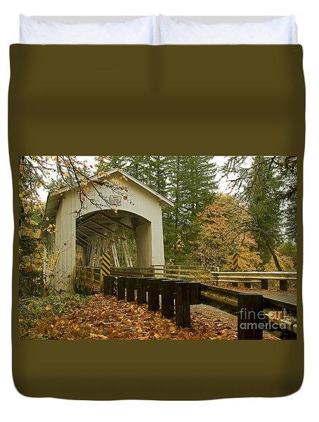 Short Covered Bridge Duvet Cover