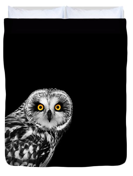 Short-eared Owl Duvet Cover by Mark Rogan