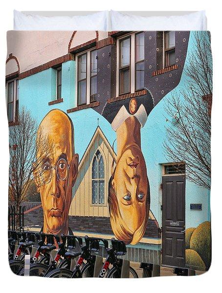 Short North Mural 4673 Duvet Cover by Jack Schultz