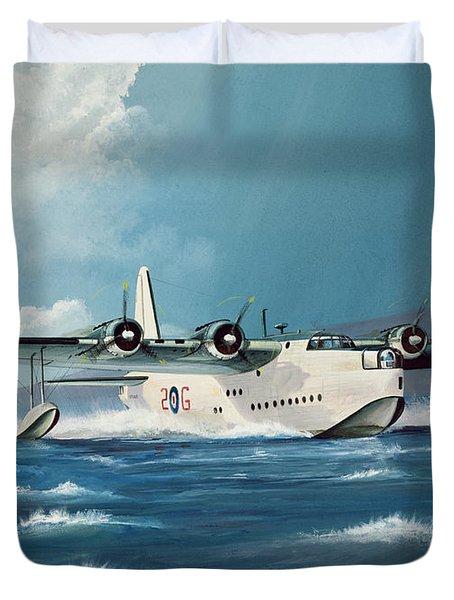 Short Sunderland Duvet Cover by Richard Wheatland
