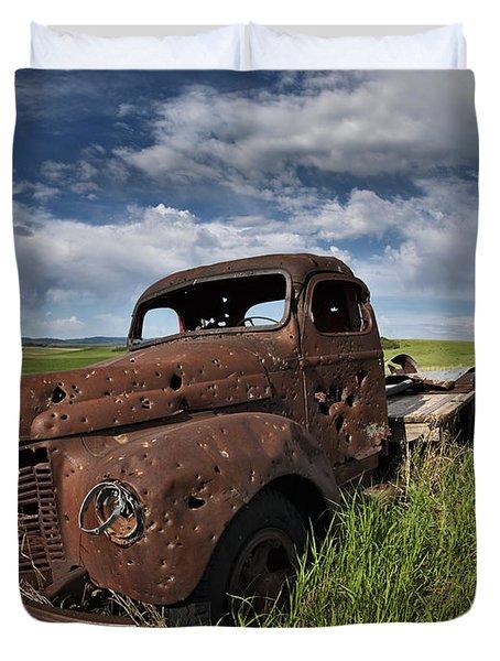 Shot Up Duvet Cover by Leland D Howard