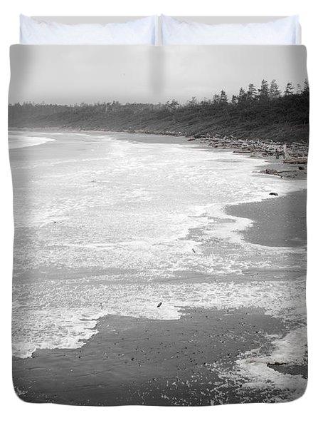 Winter At Wickaninnish Beach Duvet Cover