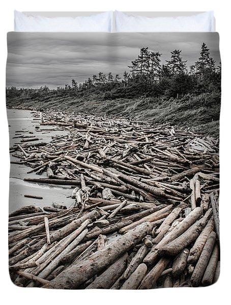 Shoved Ashore Driftwood  Duvet Cover