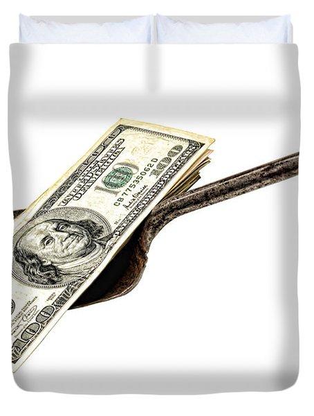 Shovel Of Dollar Duvet Cover