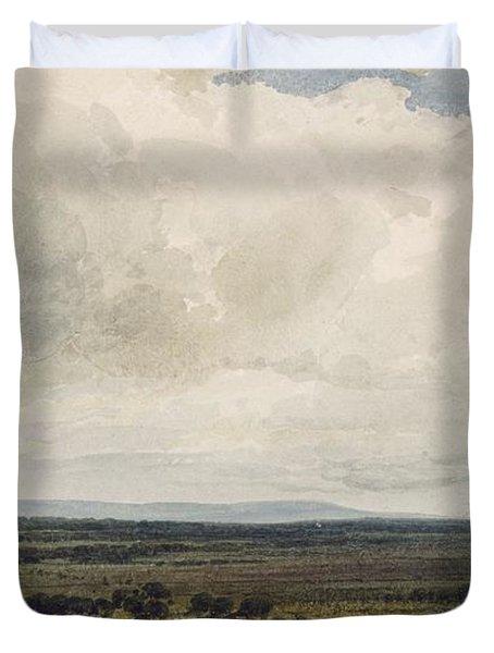 Showery Day, Glastonbury Tor Duvet Cover