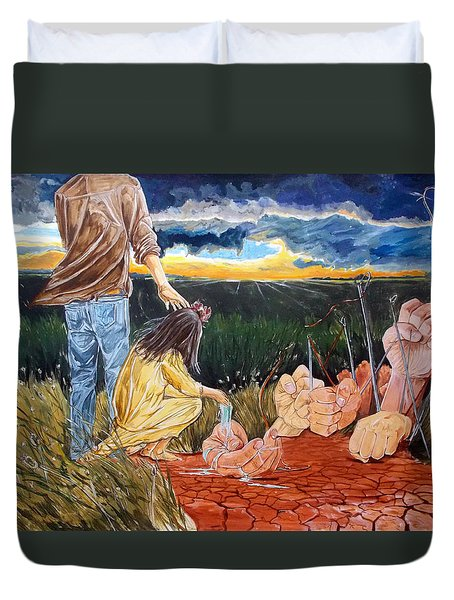 Showing How..... Duvet Cover by Lazaro Hurtado