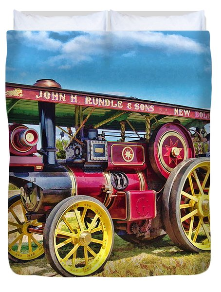 Showmans Engine Duvet Cover